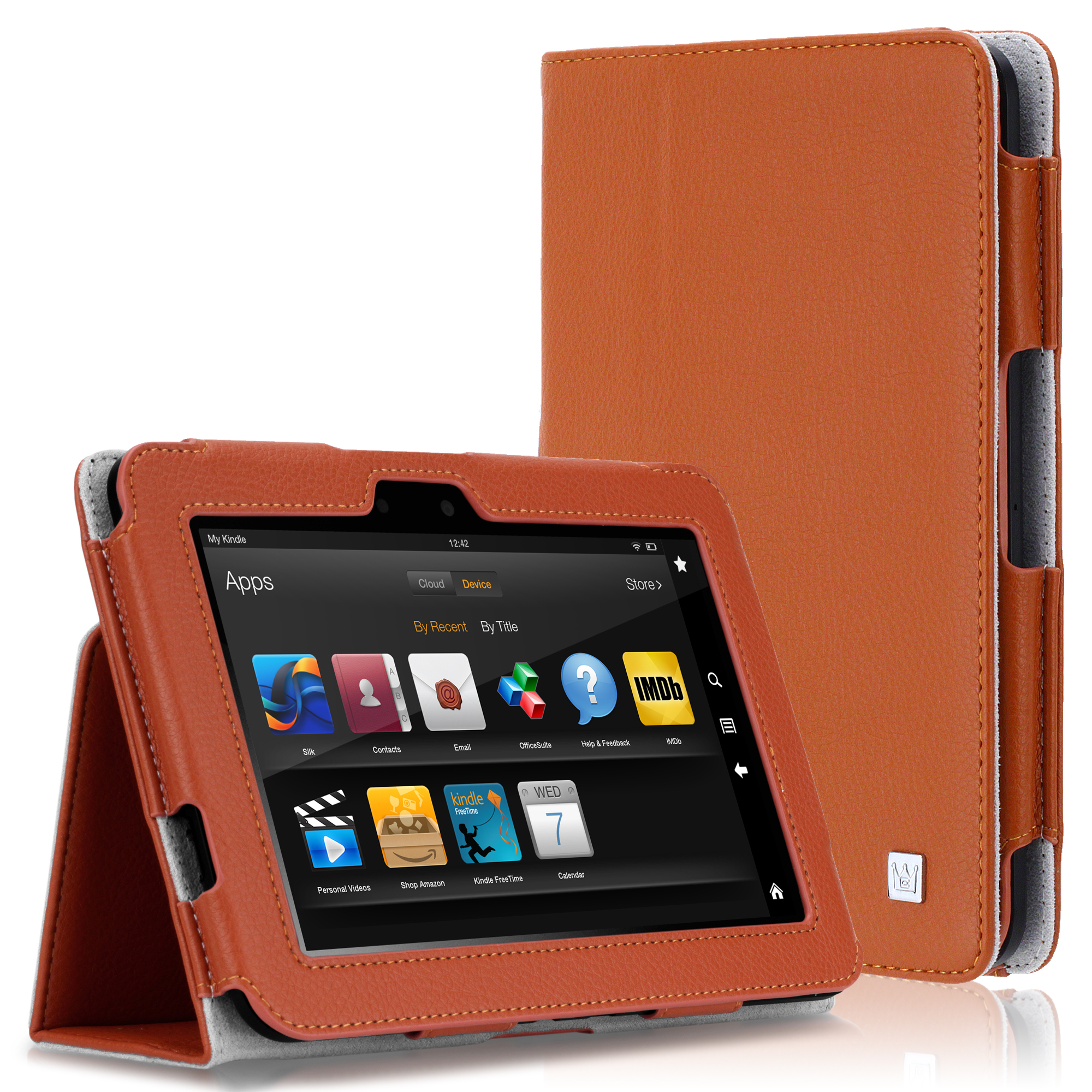 CaseCrown Bold Standby Case (Orange) for Amazon Kindle Fire HD 8.9 Inch (Built-in magnet for sleep / wake feature)