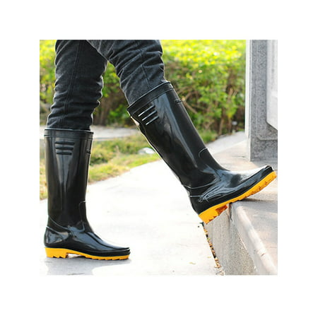 Mens' Basic Rain Boots Black (Black Elf Boots)