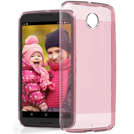 Nexus 6 Case - Vena [vSkin] Ultra Slim Protection [1.4mm Thin] TPU Case Cover for Google Nexus 6 - Pink - image 1 of 1
