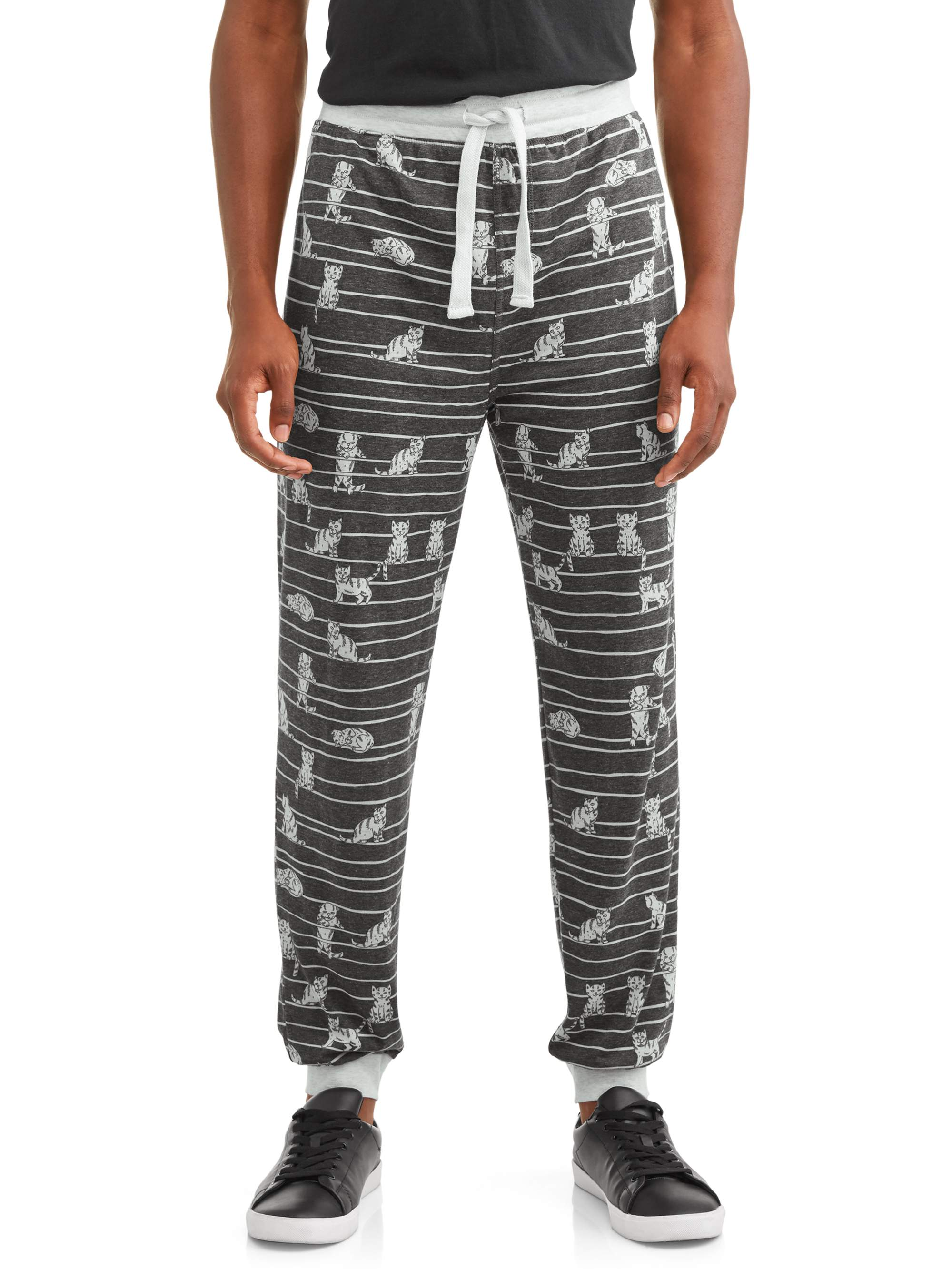 7fbb9e82622742 Top Drawer Sublimated Men s Fashion Jogger Cats Between the Lines -  Walmart.com