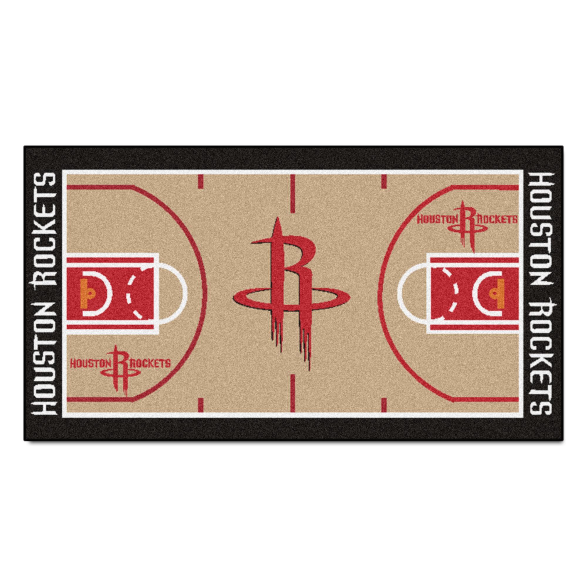 NBA Houston Rockets NBA Court Non-Skid Mat Area Rug Runner