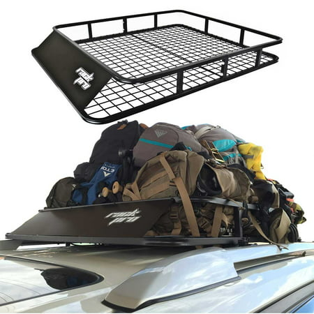 Universal Roof Rack Cargo Car Top Luggage Carrier Basket Traveling SUV (Best Suv For Traveling Salesman)