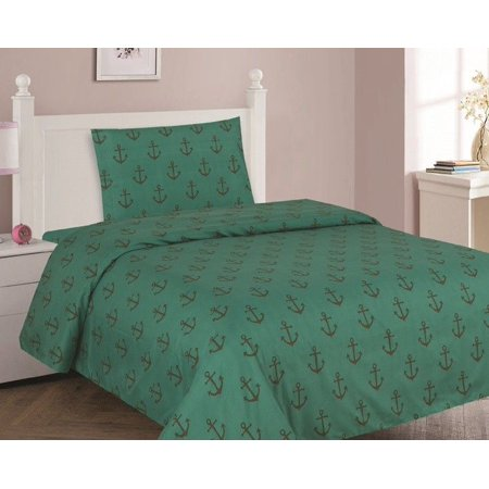 ANCHOR Twin Size 3-Piece Kids Printed Microfiber Bedding Sheet Set 1 Flat Sheet, 1 Fitted Sheet, and 1 Pillowcase (Anchor Fitted Sheet)