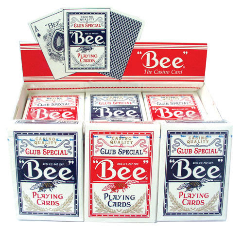 2 Decks Bee Standard Poker Playing Cards Red and Blue Brand New Decks Casino Quality