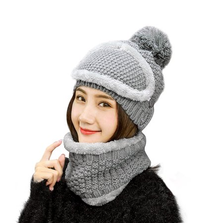 b0dadff5bb1 VBIGER - Vbiger Women Warm Hat Scarf Set Winter Thickened Beanie and Scarf  with Mask