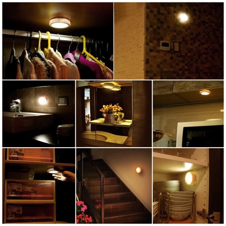 Wireless Led Puck Lights Closet Lights Battery Operated With Remote Control Kitchen Under Cabinet Lighting Wireless 4000k Natural White 6 Pack Walmart Canada - Get Wireless Battery Operated Under Cabinet Lighting Pictures
