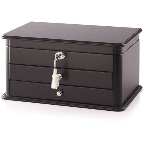 Locking Jewelry Box, Black