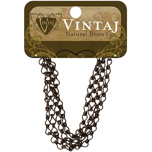 Vintaj Natural Brass Ladder Chain