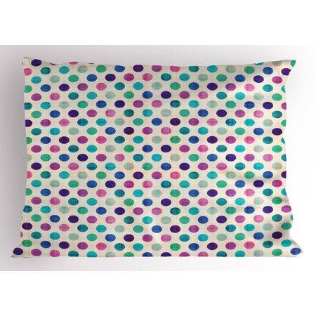 Cute Baby Themes (Geometric Pillow Sham Cute Polka Dots Girlish Feminine Design Vivid Colors Kids Nursery Baby Theme, Decorative Standard Size Printed Pillowcase, 26 X 20 Inches, Multicolor, by)