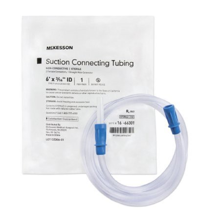 4 Inch Ss Tubing - McKesson Suction Connector Tubing 6 Foot Length, 3/16 Inch ID, Sterile, Female / Male Connector, 1 Tube