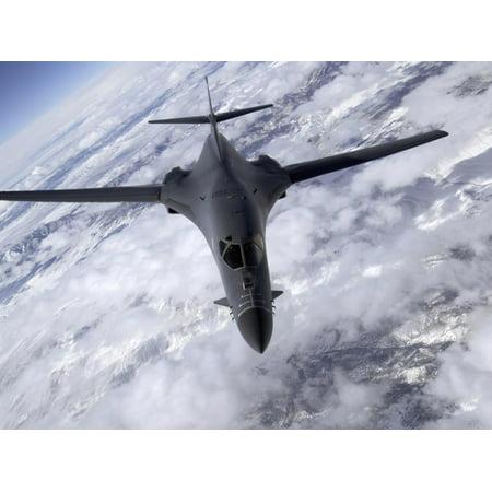 A B-1B Lancer Flies Over the Nevada And Utah Region Print Wall Art By Stocktrek