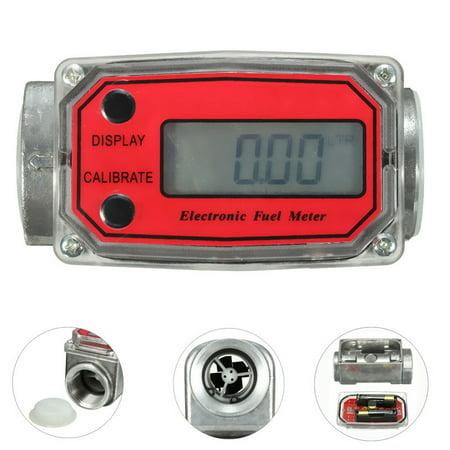 Series Flow Meter Regulators - 1'' Digital Oval Gear Turbine Diesel Flowmeter Kerosene Fuel Flow Meter 15-120L / Min