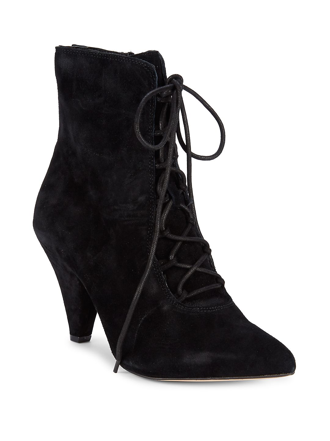 Classic Suede Point-Toe Booties