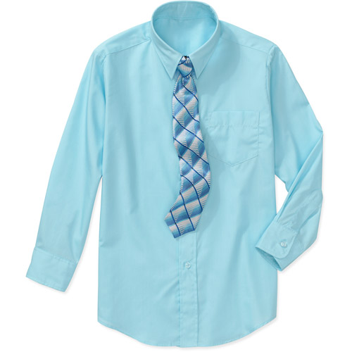 george boys packaged dress shirt and tie set walmart