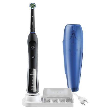 Oral-B Pro 5000 SmartSeries Electric Toothbrush with Bluetooth Connectivity, Black Edition, Powered by Braun (Oral B Stages Electric Toothbrush)