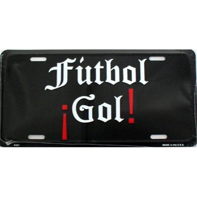LP - 1114 FUTBOL Gol - Spanish - (Soccer - Goal) License Plate - X321