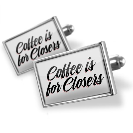Cufflinks Vintage Lettering Coffee is for Closers - NEONBLOND