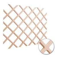 Hardware Resources WR45-2MP Wine Lattice Rack with Bevel 25-inch x 45-inch Hard Maple