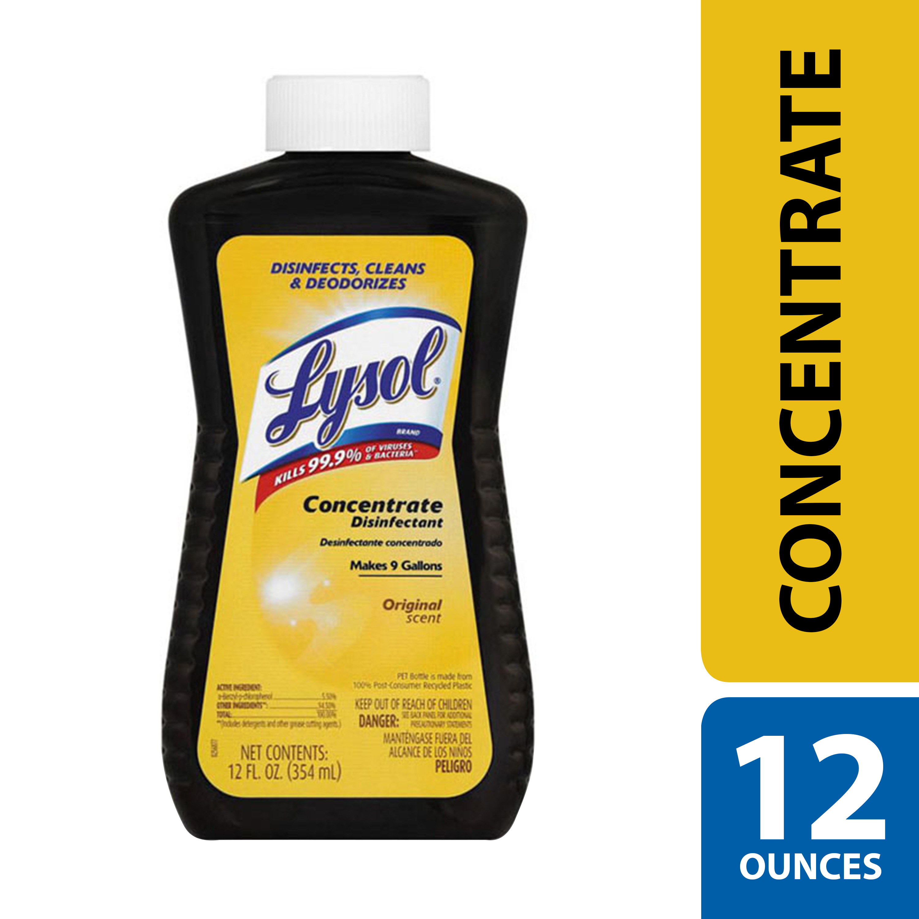(2 pack) Lysol Disinfectant Concentrate Original Scent, 12oz