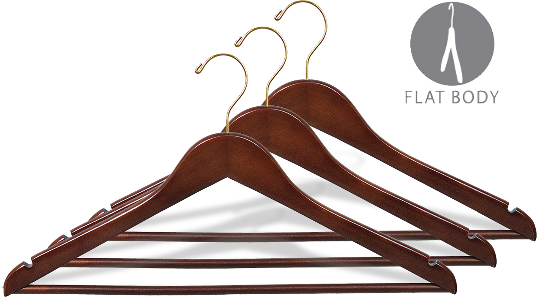 Box of 100 Baby Solid Wood Hangers Natural Maple finish