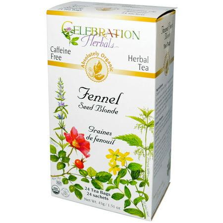 Celebration Herbals Fennel Seed Blonde Tea Bags, 24 count, (Pack of