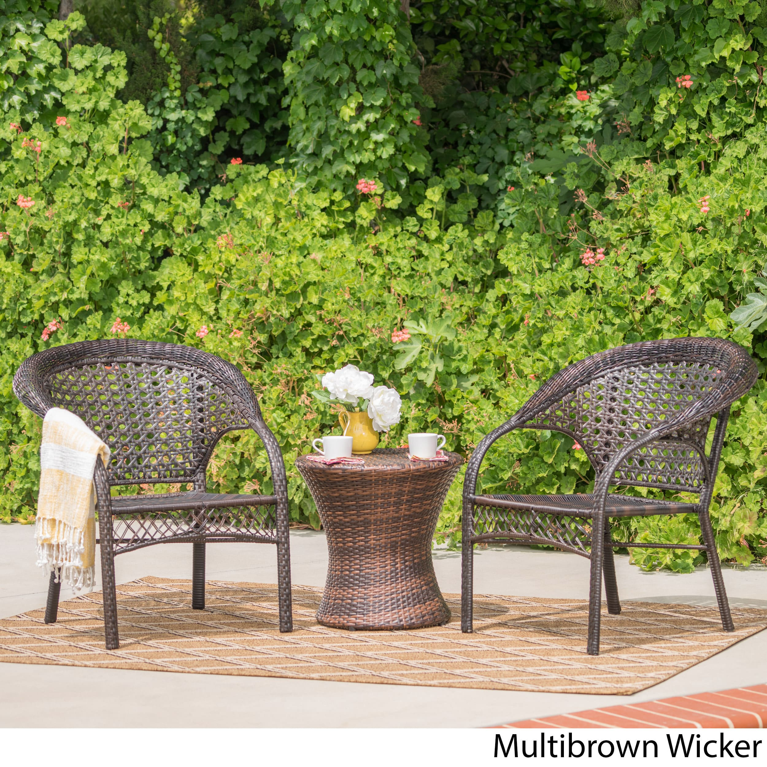 Super Monroe Wicker 3 Piece Outdoor Stacking Chair Chat Set Gmtry Best Dining Table And Chair Ideas Images Gmtryco