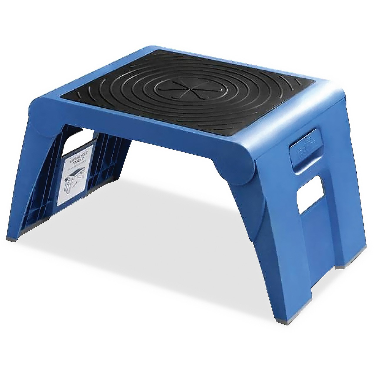 Cramer Folding Step Stool, 300lb Cap, 14w x 11 1/4d x 9 3/4h, Blue