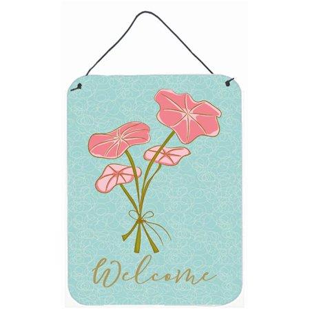 Carolines Treasures BB8582DS1216 Bunch of Flowers Welcome Wall or Door Hanging Prints - image 1 de 1
