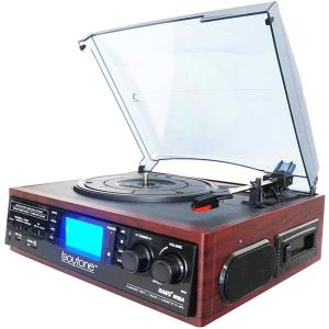 MULTIMEDIA TURNTABLE SYST MAH 3SPEED AM/FM RAD USB/SD/CASS/SPKR