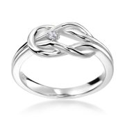 SummerRose 14k White Gold Diamond Accent Knot Ring Size 6