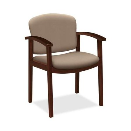HON 2111 Single Rail Arm Mahogany Guest Chair HON2111NCU24 ()