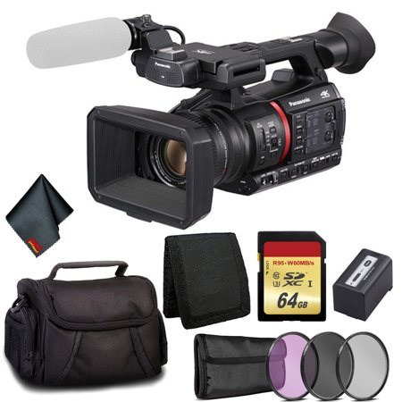 6Ave Panasonic 4K Camcorder - Bundle Kit with 64GB Memory Card and More
