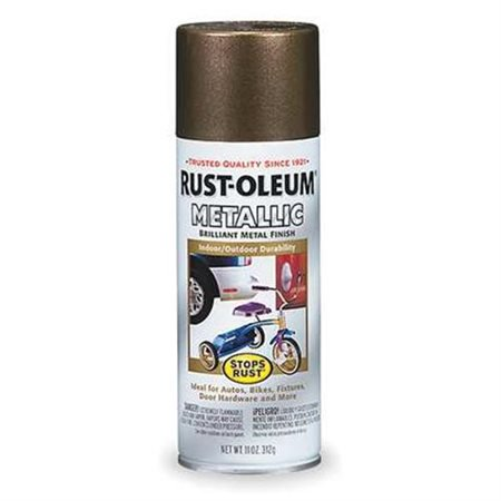 Rust-Oleum Metallic Spray Paint 11 oz. antique brass ()
