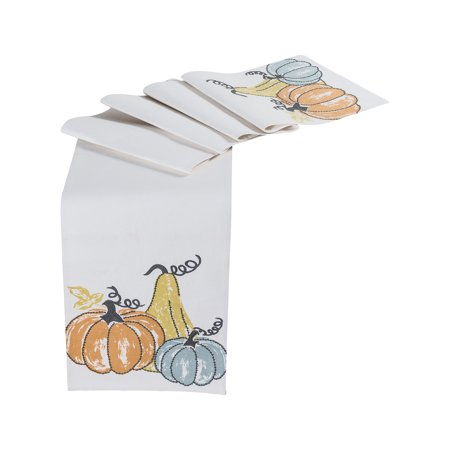 Pomeroy Autumn Cotton Table Runners In Harvest Hues Finish 964213 ()