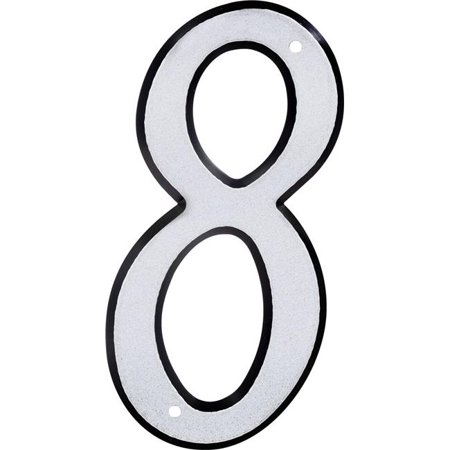 Hillman Group 841612 4 in. Nail-On Reflective Plastic House Number - 8 -  3 Piece - image 1 of 1