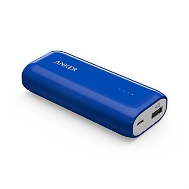 Black Anker Astro E1 5200mAh Candy bar-Sized Ultra Compact Portable Charger External Battery Power Bank with High-Speed Charging PowerIQ Technology