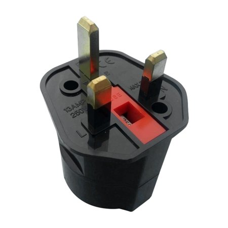 EU Euro 2 Pin to UK 3 Pin Plug AC Universal Adapter Travel Converter European