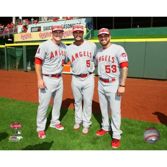 best value 600bb a548e Mike Trout Albert Pujols & Hector Santiago 2015 MLB All-Star Game Photo  Print