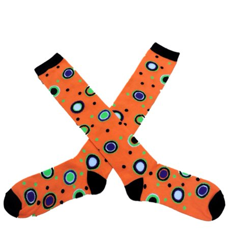My Halloween Womens Long Orange Polka Dot Knee Socks