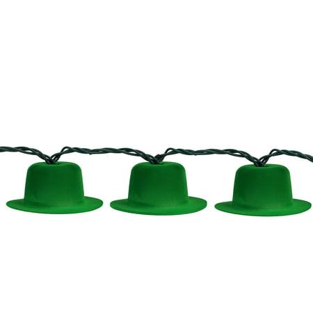 Northlight 10ct Irish Leprechaun Hat St. Patrick's Day String Lights - 7.5' Green Wire](Leprachaun Hat)