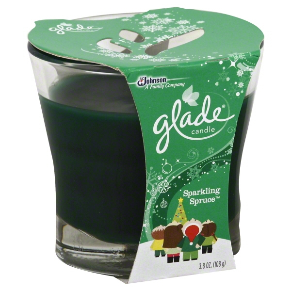 Glade Candle, Holiday Collection: Sparkling Spruce, 3.8 oz.