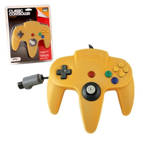 Wired Controller For Nintendo 64 System Yellow