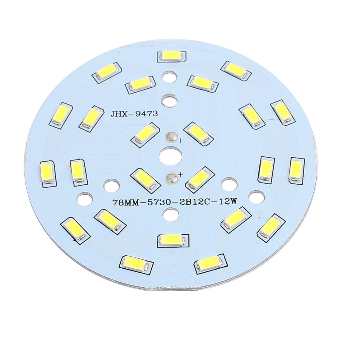 78mm Dia 12W 24 LEDs 5730 SMD LED blanc lumière plafond Aluminium - image 2 de 2