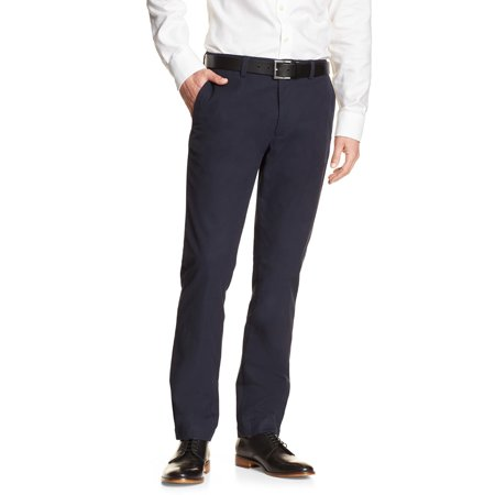 - New  5954-1 Banana Republic Mens Navy Blue Tailored Aiden Fit Chino Pants 32W X 34L