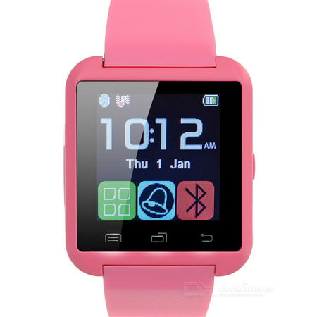 Premium Pink Bluetooth Smart Wrist Watch Phone mate for Android Samsung HTC LG Touch Screen Blue Tooth Smart Watch for Kids for Adults Amazingforless U8 ()