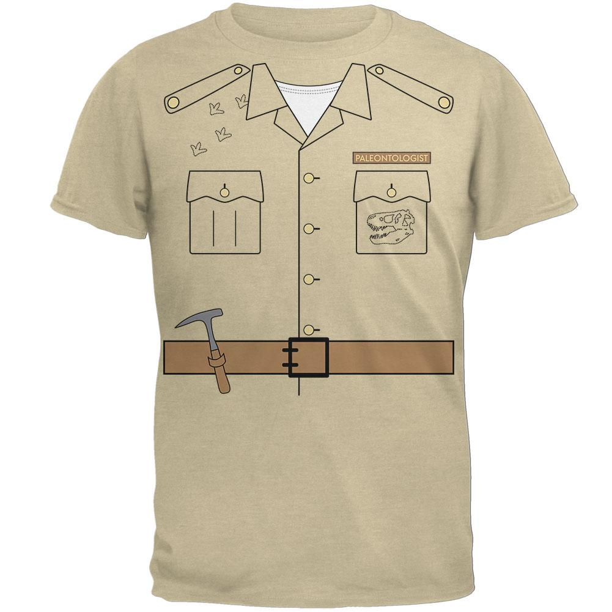 Halloween Paleontologist Dinosaur Hunter Costume Juniors Soft T Shirt