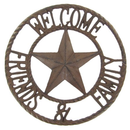 Welcome Friends Metal Wall Decoration Cowboy Cowgirl Theater Room Library Patio](Metal Decorations)