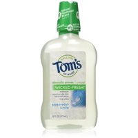 Tom's of Maine Wicked Fresh! Mouthwash, Peppermint Wave 16 oz (Pack of 2)