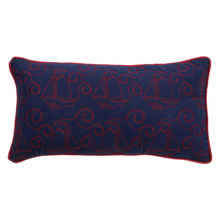 Rizzy Home Decorative Poly Filled Throw Pillow Sail Boats 11