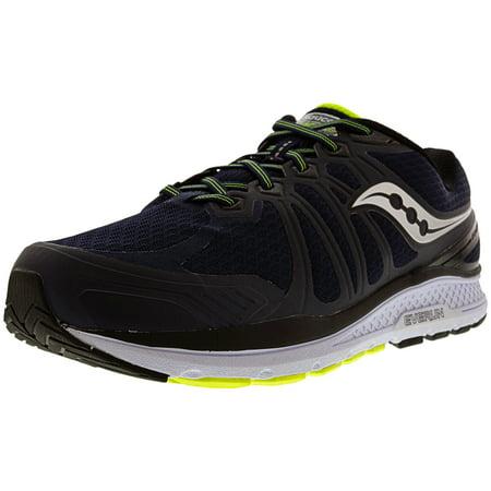 Saucony Men's Echelon 6 Navy / Citron Ankle-High Running Shoe - (Saucony Boston Running Pant)